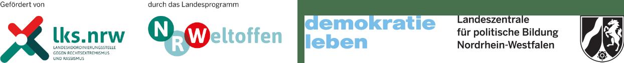 Logos nrweltoffen Demokratie leben
